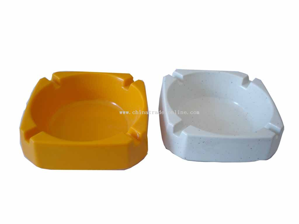 Square Reverse side ashtray from China