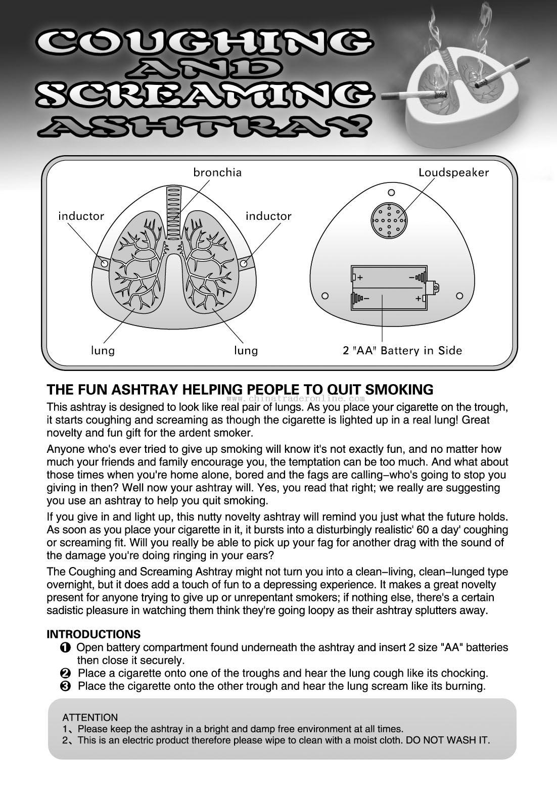 quit smoking ashtray