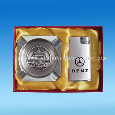 Ashtray with Metal Lighter Promotional Gift Sets
