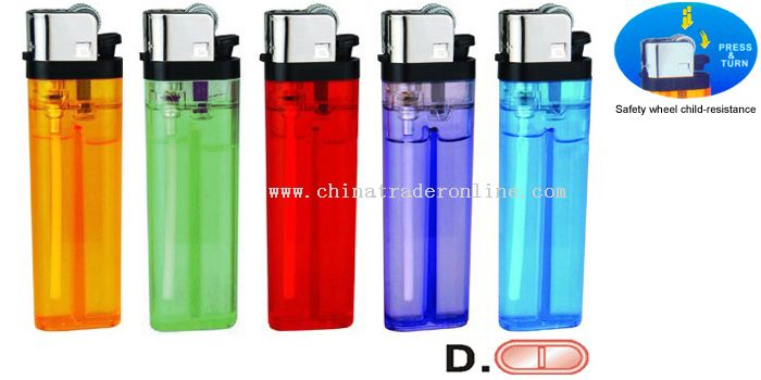 Transparent Five Colors Flint Lighter