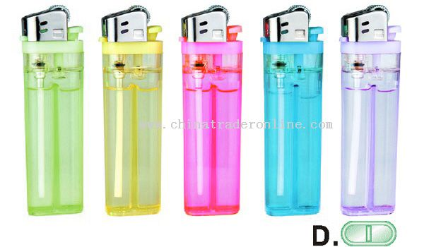 Transparent Gas Tank Flint Lighter