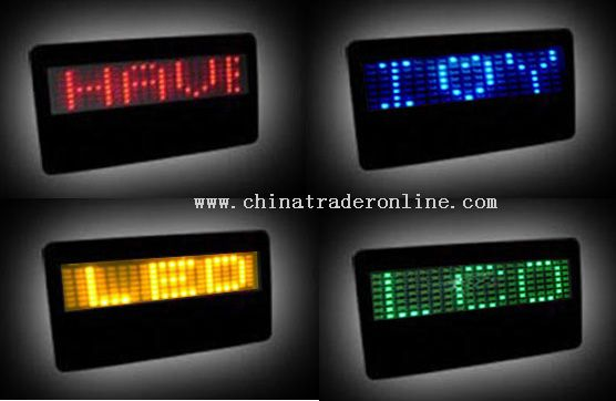 LED NAME CARD