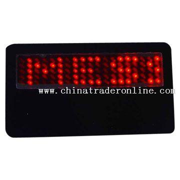 LED Name Card