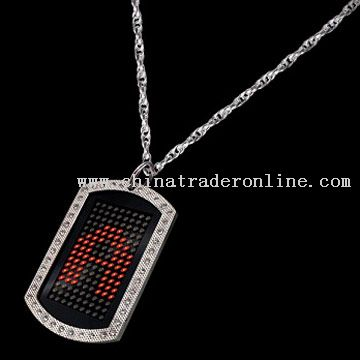 LED Scrolling Dog Tag