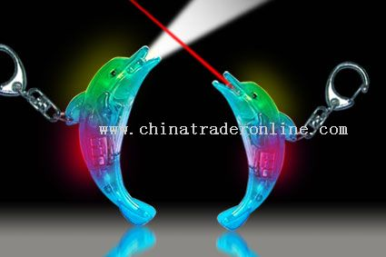 FLASH LED DOLPHIN with keychain