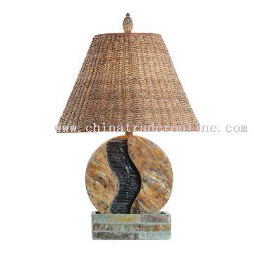Natural Slate Fountain Lamp