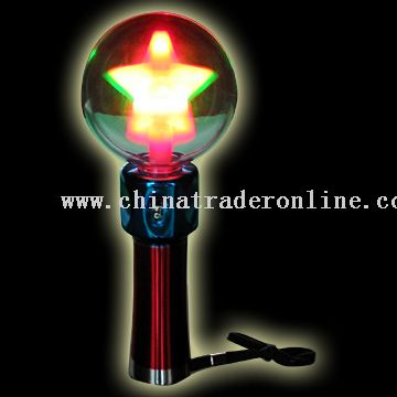 LED Flash Spinning Ball - Rainbow Star