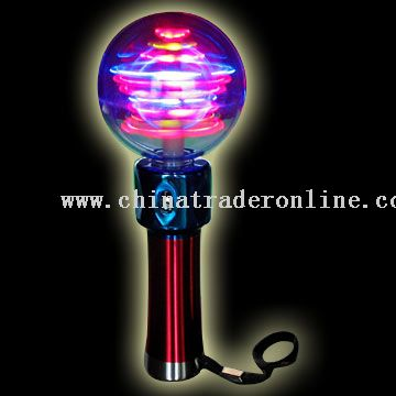 LED Flash Spinning Ball - Star Shape