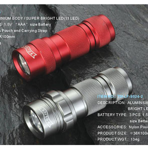 ALUMINIUM BODY / SUPER BRIGHT LED(11 LED) flashlights
