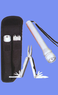 flashlights with pouch set from China