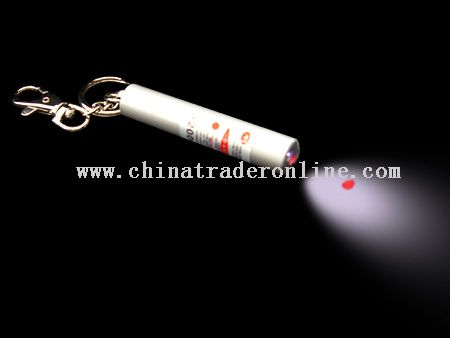 laser flashlights with keychain from China