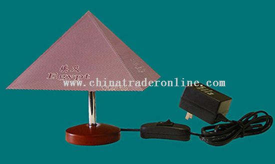 Mini T-Lamp with a Pyramid Shape Shade