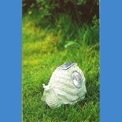 snail solar resin garden light
