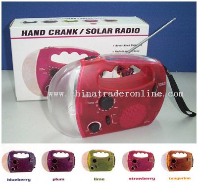 Solar AM/FM Radio Flashlight Crank Dynamo