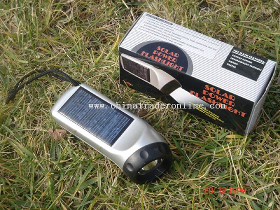 super bright white LED Solar Flashlight