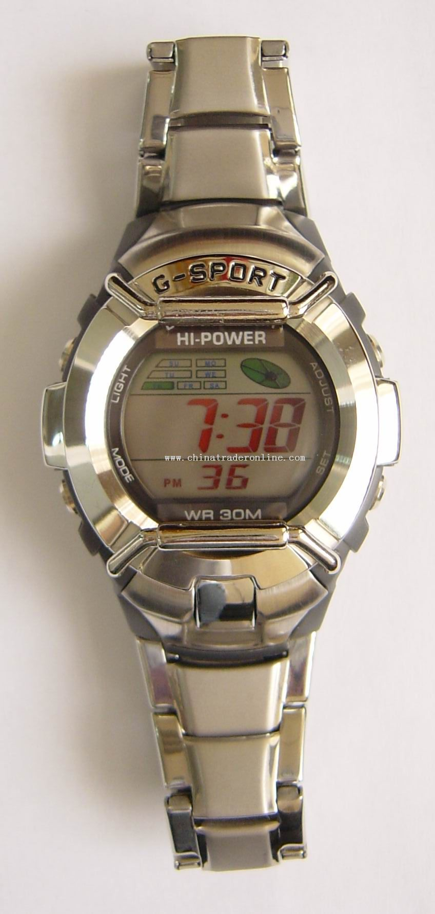 3 ATM Solar Power Watch Stainless Band And Case