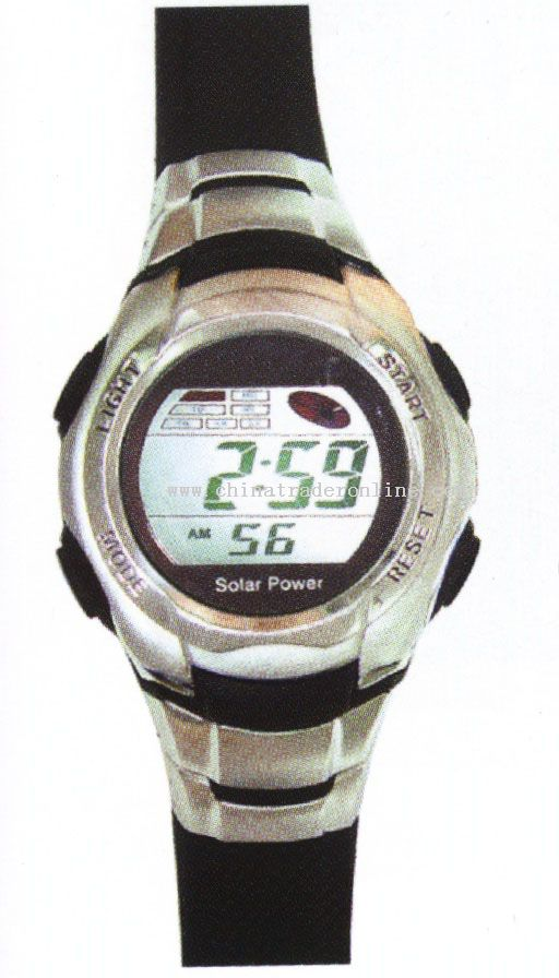 3ATM SOLAR POWER WATCH WITH 8 YEARS BATTERY from China