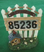 SOLAR FENCE HOUSE NUMBER