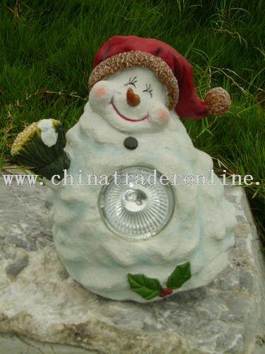 solar snowman for christmas