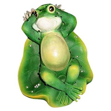 solar craft resin light frog w/lotus