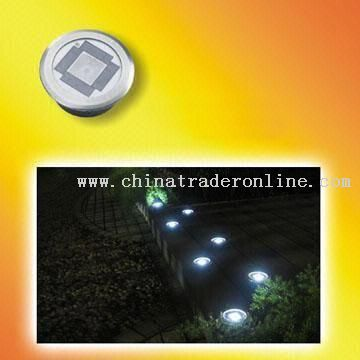 1W Solar In-ground Light with One Bright White LED Light