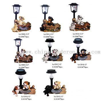 Polyresin Decorative Solar Lights
