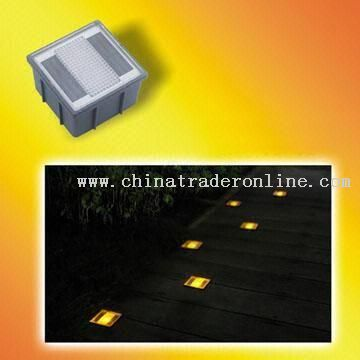 Solar Brick Light with PC Cover and Water-resistant Feature