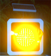 Solar Traffic Yellow Light