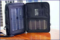 solar notebook charger bag