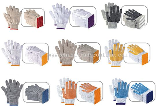 PVC Dotted Gloves/Safety Gloves/Work Gloves