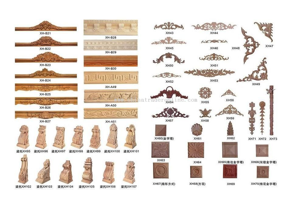 Wood Mouldings, Wood Moldings,wood Capital, Wood Columns