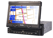 One din 7inch touch screen with car DVD player/TV/AM/FM/AMPLIFIER with built in GPS