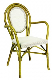 aluminum paris cafe chairs