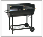BBQ oven/grill/grid, ice buckets, wind lamp, beach chairs, machinery