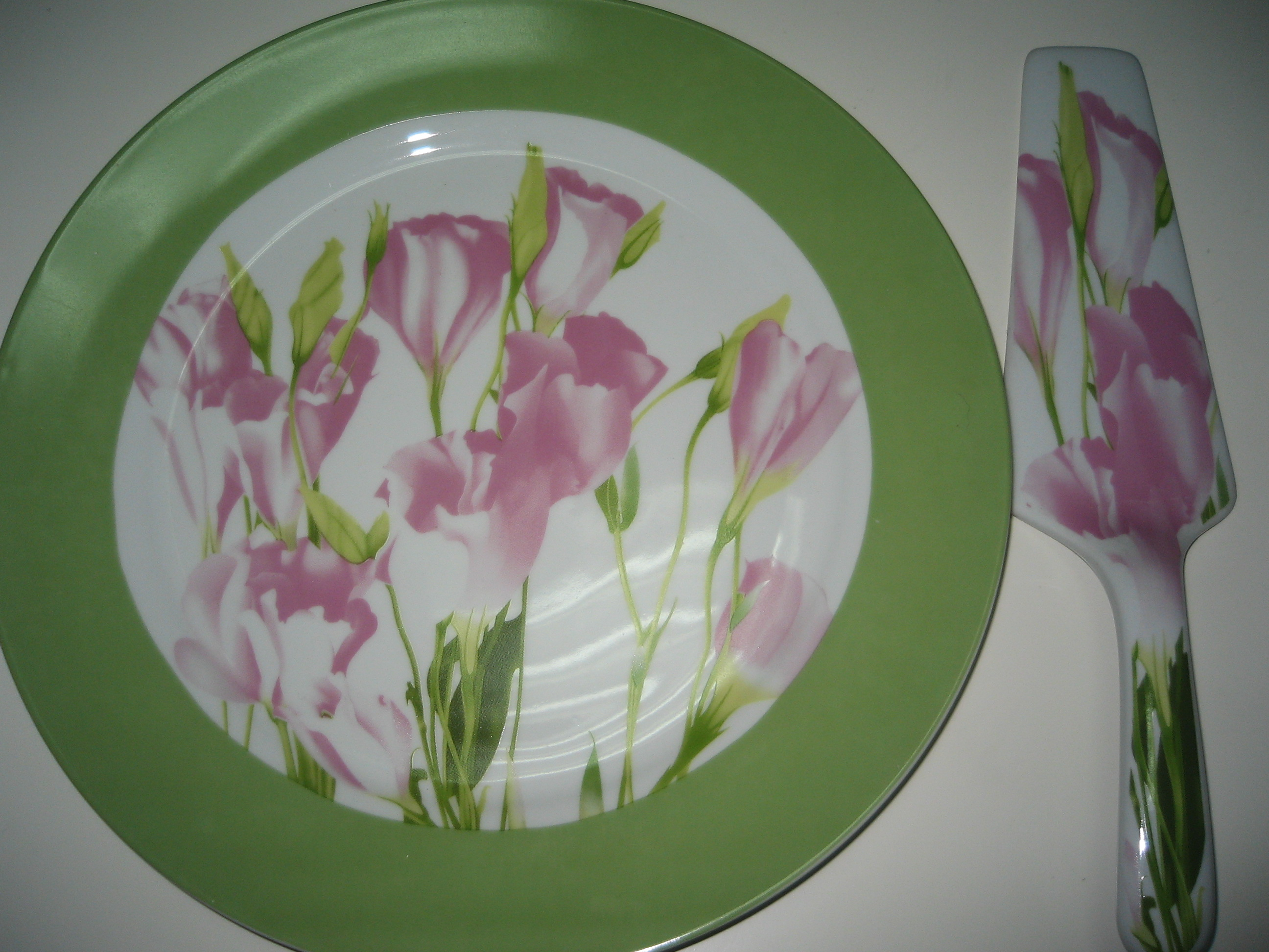 Cake plate gift set