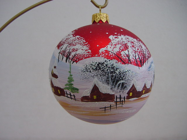 hand Painted Christmas ball