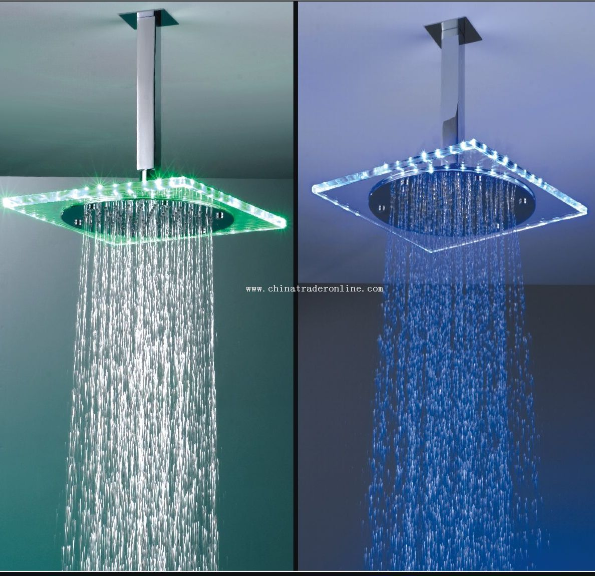 Shower head with LED light