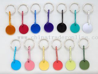 aluminium coin keychain