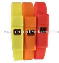 Silicone wristband whistle