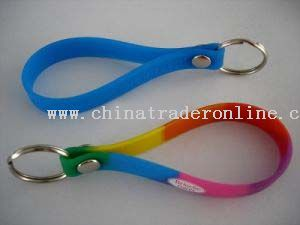 silicon key chain from China