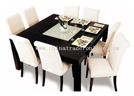 wooden dining chair(leather or fabric) from China