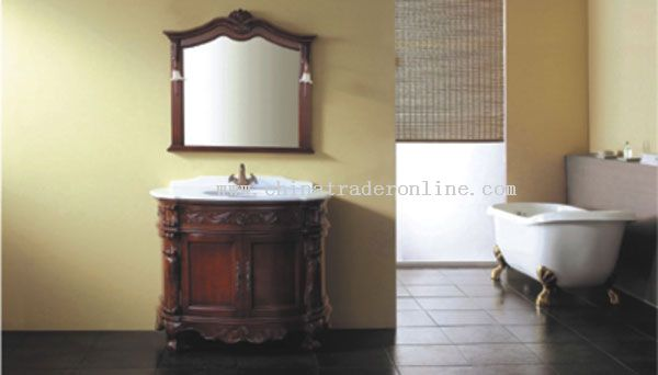manmade wooden bathroom cabinet