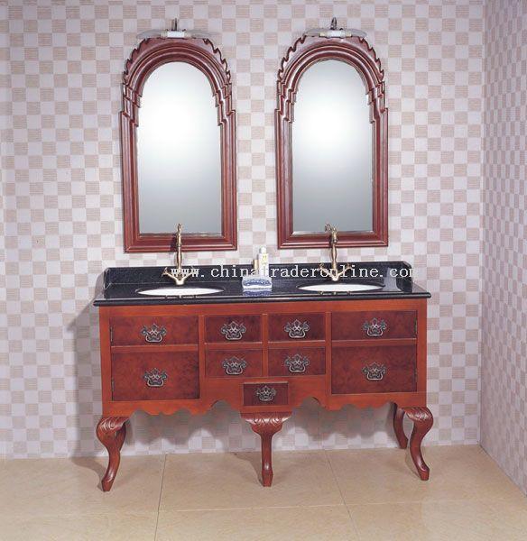 Double sink bathroom cabinet