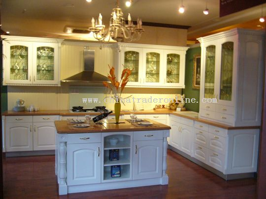Soild wood kitchen cabinets with countertop