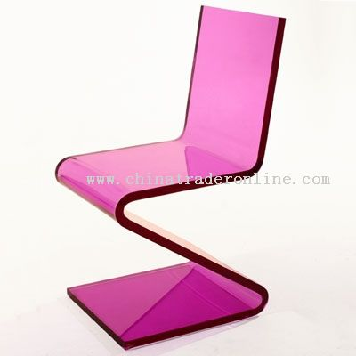 Acrylic Chair,Z Chair,Zigzag Chair,Crystal Chair,Glass Chair