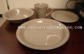 stoneware16pc dinner set-solid color