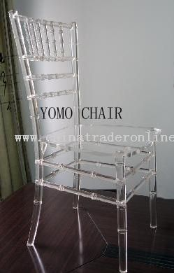 Clear Acrylic/Crystal/Glass /Ice Chiavari Chair, Chivari Chair, Chavari Chair, Tiffany Chair, Banquet Chair, Hotel Chair, Restaurant Chair, Party Rental Chair, Ballroom Chair