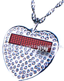 attractive scrolling LED dog tags
