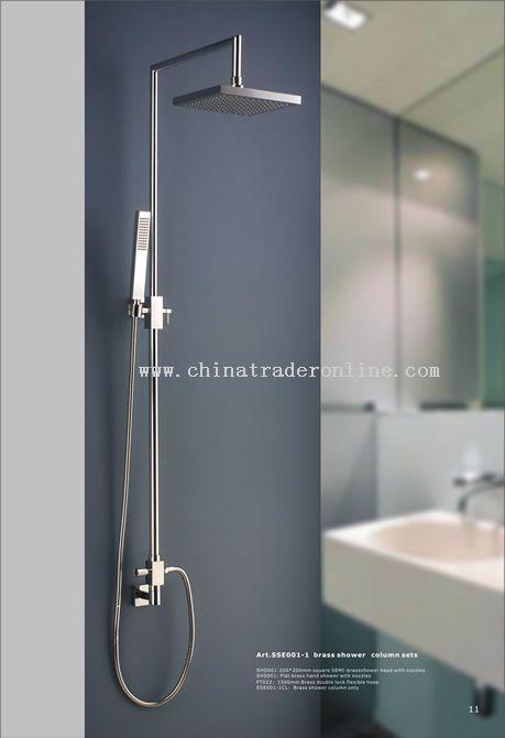 brass shower column sets