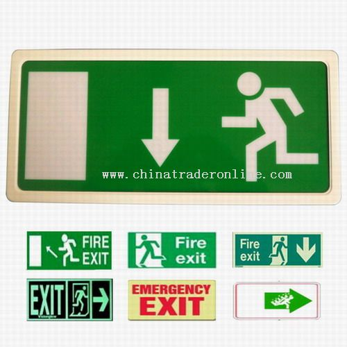 Emergency lights,Exit signs